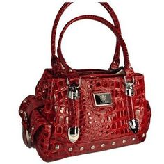 Womens LYDC Patent Croc Leather Shoulder Hand Bag: Price:£19.25 [UK & Ireland Only]