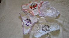 calcinha infantil lote 4 peças com laço e renda