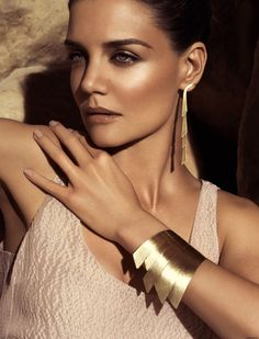 Katie Holmes Nude Makeup for H-Stern Jewelry