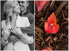 Engagement portrait pose for a fall session. Iowa Wedding Photography | CTW Photography