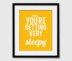 Your'e getting very sleepy wall art #modernnursery #summerinthecity