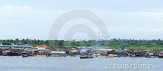 Old fishing boat in lagos river , nigeria