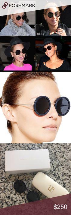 ca4b06217b Linda Farrow x The Row 8 Round Sunglasses Beyoncé + Olsen Twin style