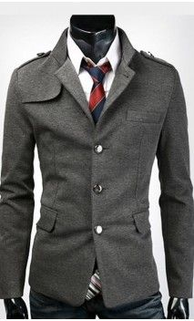 Mens Modern Slim Fit Jacket with Shoulder Detail