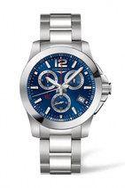 Longines Conquest Quartz Chronograph Date Stainless Steel Watch# L3.700.4.96.6 (Men Watch)