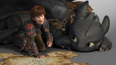 New image for How to Train Your Dragon 2! Hiccup and Toothless.