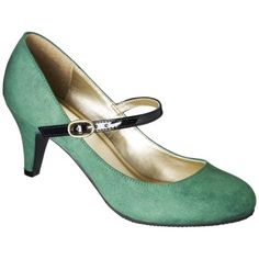 cuteness fm Target....Women's Merona® Erin Mary Jane Pump -  Green