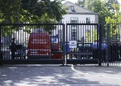 US consulate in Berlin was evacuated as a precaution today after an employee reported a strange smell from an envelope. Police experts checked the building to see if any chemical substances or poisonous gases had been released but nothing was found.