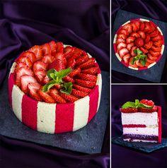 "Entremet ""Joconde"" - strawberry and mint."