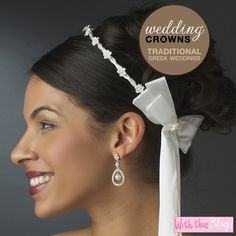 Greek Stefana WeddingCrowns from www.withthisbling.com