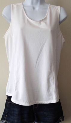 MOUNTAIN HARDWEAR White Athletic Base Layer Tank Top Shirt womens Medium Large