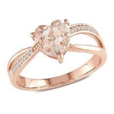 471a0ae250e Diamond Accent Heart Promise Ring in 10K Rose Gold - View All Rings - Zales  How cute would this be for a promise ring xD I love hearts and t…