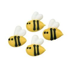 Bee Royal Icing Decorations with Wings