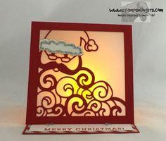 Stamps-N-Lingers.  Easel card using Greetings From Santa and the Detailed Santa thinlits. https://stampsnlingers.com/2016/09/18/stampin-up-detailed-greetings-from-santa/