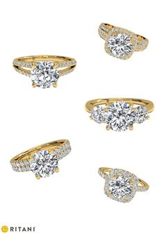 Discover Yellow Gold Engagement Rings, by Ritani-- Dear future hubby, any one of these will do just fine