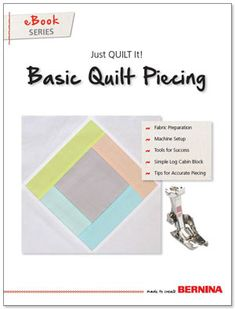 Basic Quilt Piecing, Just Quilt It - eBook from BERNINA. A beautiful patchwork quilt starts with accurate quilt piecing techniques. Learn tips and techniques for successful piecing every time. Quilting Tips, Quilting Tutorials, Machine Quilting, Sewing Tutorials, Techniques Couture, Sewing Techniques, Bernina 350, Sewing Hacks, Sewing Tips