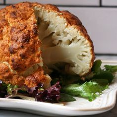 SPICY WHOLE ROASTED CAULIFLOWER (When serving, use the excess yogurt 'batter' as a dipping sauce.)