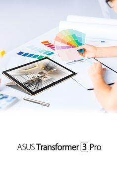 Set the 155° ASUS Transformer 3 Pro hinged screen at any angle. Anytime…