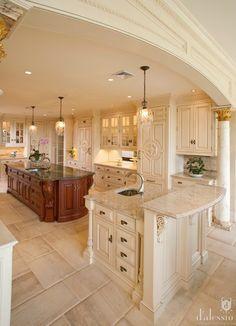 Luxury Kitchen Design - Home Decoration 17 European Kitchens, Luxury Kitchens, Home Kitchens, Dream Kitchens, Tuscan Kitchens, Home Design, Interior Design, Diy Interior, Interior Modern