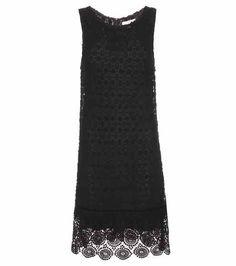 Cosmo crochet-knit cotton-blend dress | Velvet