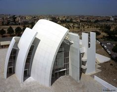 Jubilee church by Richard Meier in Rome,Italy Architecture Images, Religious Architecture, Church Architecture, Chinese Architecture, Modern Architecture House, Futuristic Architecture, Modern Buildings, Modern Houses, Office Buildings