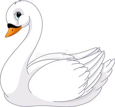 Illustration about Image of swan on white background. Illustration of cartoon, vector, clip - 75462992 Art Drawings For Kids, Art Drawings Sketches, Drawing For Kids, Easy Drawings, Animal Drawings, Lama Animal, Swan Drawing, Mermaid Vector, Owl Vector