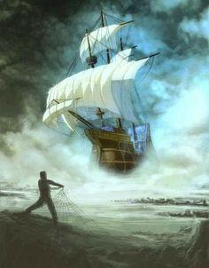 Esta es una de las leyendas más famosas de la mitología Chilota en el sur de Chile. Se dice que el Caleuche es un barco que aparece en las aguas que rodean a una tripulación acompañado de sonidos de fiesta y de gente riendo.