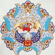 ..:: T.C. KÜLTÜR VE TURİZM BAKANLIĞI | ISPARTA İL KÜLTÜR VE TURİZM MÜDÜRLÜĞÜ ::.. Diy Bag Painting, Fabric Painting, Islamic Art Pattern, Pattern Art, Mystic Symbols, Persian Motifs, Iranian Art, Turkish Art, Tile Murals