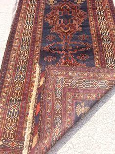 Size:8 ft by 4.5 ft Handmade Rug Afghan Tribal Blue Carpet by Carpetsmall on Etsy https://www.etsy.com/listing/258835109/size8-ft-by-45-ft-handmade-rug-afghan