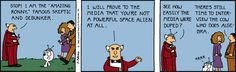 """Dilbert Classics""; January 30, 2016; The Amazing Ronny vs. Dogbert the Powerful Space Alien"