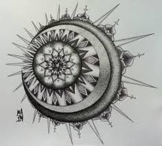 mandala solar moon tattoo - Hledat Googlem.... >> Figure out even more by checking out the photo link