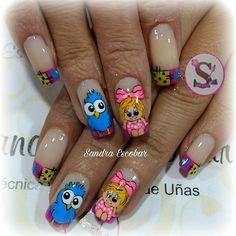 68 Mejores Imágenes De Uñas Caricatura Nail Art Fingernails