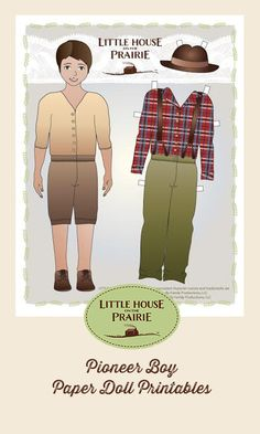 If you love paper dolls, you'll love these pioneer inspired free paper doll patterns! #homeschool #printables