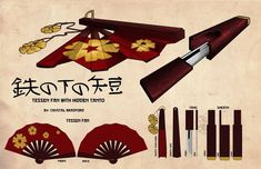 Samurai Weapons, Ninja Weapons, Anime Weapons, Fantasy Weapons, Hidden Weapons, Pretty Knives, Weapon Concept Art, Anime Outfits, Character Design Inspiration