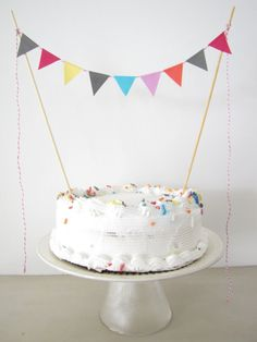 Nothing screams INSTANT PARTY like a cake banner. #BuzzfeedDIY
