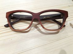 The Marilyn cateye glasses with Bloodwood and tulipwood on the bottom ❤️ #woodglasses