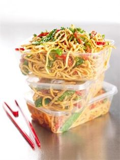 Sesame Peanut Noodles - Tired of the same old sandwich for lunch?  Looking for something just a little different?  This just may be what you need!  Convert the measurements for the dressing & don't worry too much about the other ingredients.  Just add what you like & have fun with it!
