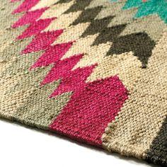 Alfombra trenzada de lana de colores 80 x 200cm ACAPULCO