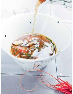 Bouillon de crevettes, tapioca