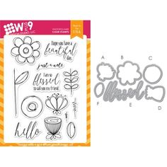 Doodle Buds stamp and die set: great for friendship cards!