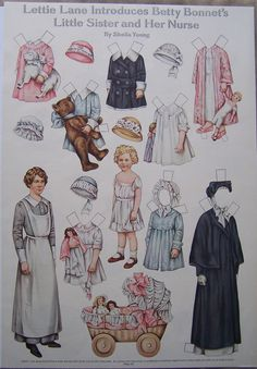 Paper Dolls LHJ Sheila Young Lettie Lane Introduces 's Sister and Her Nurse | eBay