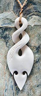 Maori Bone Twist Necklace      www.boneart.co.nz