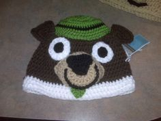 yogi bear crochet hat
