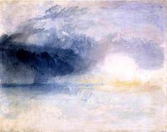 "vjeranski: "" Joseph Mallord William Turner 'Bamburgh Castle, Northumberland', c.1837 """