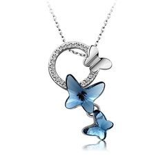Buy Yellow Chimes Crystals from Swarovski Blue Butterfly Designer Crystal  Pendant for Women and Girls Online at Low Prices in India   Amazon  Jewellery Store ... 0f55217950