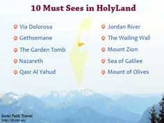 10 must sees in HolyLand