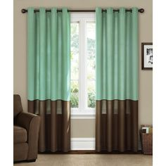 Walmart $19.96 1 50x 84 panel Canopy Lined Color Band Grommet-Top Energy-Efficient Curtain Panel