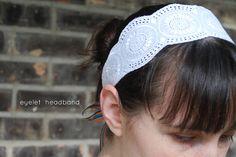 eyelet headband by wildolive, via Flickr