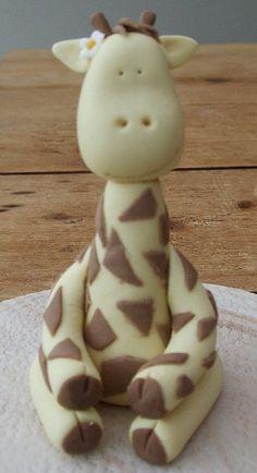 Giraffe cake topper