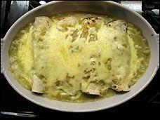 Spinach Enchiladas with Tomatillo Sauce  http://projects.washingtonpost.com/recipes/2011/01/12/spinach-enchiladas-tomatillo-salsa/